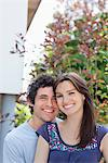 Portrait of smiling couple outdoors Stock Photo - Premium Royalty-Freenull, Code: 635-05656131