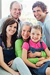 Portrait of smiling multi-generation family Stock Photo - Premium Royalty-Freenull, Code: 635-05656133