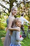 Portrait of mother and daughter in park Stock Photo - Premium Royalty-Free, Artist: GreatStock, Code: 635-05656426