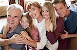 Portrait of smiling multi-generation family Stock Photo - Premium Royalty-Freenull, Code: 635-05656455