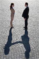 Shadows shaking hands outdoors Stock Photo - Premium Royalty-Freenull, Code: 649-05656577