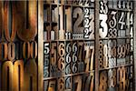 Letterpress Numbers Stock Photo - Premium Rights-Managed, Artist: Daryl Benson, Code: 700-05656514