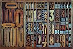 Letterpress Numbers Stock Photo - Premium Rights-Managed, Artist: Daryl Benson, Code: 700-05656515