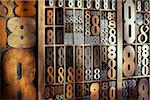 Letterpress Numbers Stock Photo - Premium Rights-Managed, Artist: Daryl Benson, Code: 700-05656525