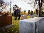 Couple Grieving in Cemetery Stock Photo - Premium Rights-Managed, Artist: Matthew Plexman, Code: 700-05656530