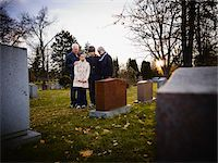 Family Grieving in Cemetery Stock Photo - Premium Rights-Managednull, Code: 700-05656533