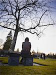 Family Grieving in Cemetery Stock Photo - Premium Rights-Managed, Artist: Matthew Plexman, Code: 700-05656535