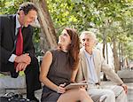 Business people working outdoors Stock Photo - Premium Royalty-Free, Artist: Blend Images, Code: 649-05657019