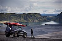 remote car - Man with Jeep admiring rural landscape Stock Photo - Premium Royalty-Freenull, Code: 649-05657622