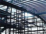 Steel frame at construction site Stock Photo - Premium Royalty-Free, Artist: Aflo Relax, Code: 649-05657951