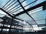 Steel frame at construction site Stock Photo - Premium Royalty-Free, Artist: Garry Black, Code: 649-05657952