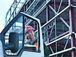 Construction worker on cell phone Stock Photo - Premium Royalty-Free, Artist: foodanddrinkphotos, Code: 649-05657958