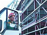 Construction worker opening car door Stock Photo - Premium Royalty-Free, Artist: Aflo Relax, Code: 649-05657960
