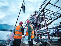 Construction workers standing on site Stock Photo - Premium Royalty-Freenull, Code: 649-05657961