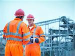 Workers talking at quarry Stock Photo - Premium Royalty-Freenull, Code: 649-05657996