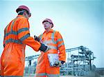 Workers talking at quarry Stock Photo - Premium Royalty-Freenull, Code: 649-05657997