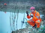 Worker examining plants in quarry Stock Photo - Premium Royalty-Freenull, Code: 649-05658023