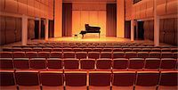 Piano on stage in empty theater Stock Photo - Premium Royalty-Freenull, Code: 649-05658313