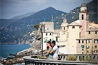 Couple on vacation admiring scenery Stock Photo - Premium Royalty-Freenull, Code: 649-05658419
