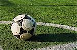 Close up of a ball on a football pitch Stock Photo - Premium Royalty-Free, Artist: Arcaid, Code: 614-05662157