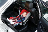 Baby Girl in Car Seat Stock Photo - Premium Rights-Managednull, Code: 700-05662371