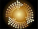 Background with arrows made of circles Stock Photo - Royalty-Free, Artist: jelen80                       , Code: 400-05662995