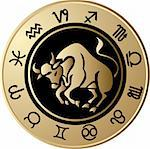 Vector Horoscope Taurus Stock Photo - Royalty-Free, Artist: jelen80                       , Code: 400-05663016