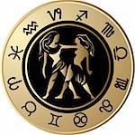 Vector Horoscope Gemini Stock Photo - Royalty-Free, Artist: jelen80                       , Code: 400-05663020