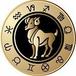 Vector Horoscope Aries Stock Photo - Royalty-Free, Artist: jelen80                       , Code: 400-05663022