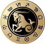 Vector Horoscope Capricorn Stock Photo - Royalty-Free, Artist: jelen80                       , Code: 400-05663024