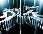 Industrial close up image of bearings and gear Stock Photo - Royalty-Free, Artist: carloscastilla                , Code: 400-05663853