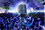 Illustration of live music with vintage microphone and public Stock Photo - Royalty-Free, Artist: carloscastilla                , Code: 400-05663870