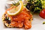 Fresh salmon salad with tomatoes to be eaten Stock Photo - Royalty-Free, Artist: ilolab                        , Code: 400-05665654