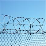 barbed wires Stock Photo - Royalty-Free, Artist: phbcz                         , Code: 400-05668189
