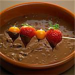 chocolate fondue Stock Photo - Royalty-Free, Artist: phbcz                         , Code: 400-05668195