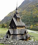 Borgund Stavkirke, Norway Stock Photo - Royalty-Free, Artist: phbcz                         , Code: 400-05668205