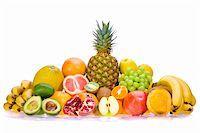 Assortment of fresh fruits Stock Photo - Royalty-Freenull, Code: 400-05668905
