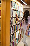 Portrait of a young woman choosing a book in a library Stock Photo - Royalty-Free, Artist: 4774344sean                   , Code: 400-05668932