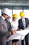 Business people at a construction site Stock Photo - Royalty-Free, Artist: Deklofenak                    , Code: 400-05669050