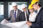 Business people at a construction site Stock Photo - Royalty-Free, Artist: Deklofenak                    , Code: 400-05669051