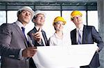 Business people at a construction site Stock Photo - Royalty-Free, Artist: Deklofenak                    , Code: 400-05669054