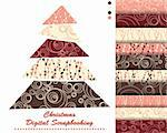 set of Christmas vector paper for scrapbook Stock Photo - Royalty-Free, Artist: Mary1507                      , Code: 400-05669145