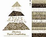 set of Christmas vector paper for scrapbook Stock Photo - Royalty-Free, Artist: Mary1507                      , Code: 400-05669146