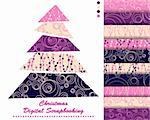 set of Christmas vector paper for scrapbook Stock Photo - Royalty-Free, Artist: Mary1507                      , Code: 400-05669148