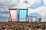 Empty deckchairs on brighton beach Stock Photo - Royalty-Free, Artist: Dutourdumonde                 , Code: 400-05669367
