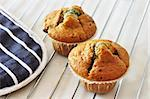 Two freshly baked blueberry muffins Stock Photo - Royalty-Free, Artist: Dutourdumonde                 , Code: 400-05669391