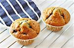Two freshly baked blueberry muffins Stock Photo - Royalty-Free, Artist: Dutourdumonde                 , Code: 400-05669396
