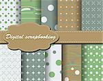 set of vector paper for scrapbook Stock Photo - Royalty-Free, Artist: Mary1507                      , Code: 400-05669676