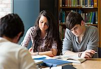 Students preparing the examinations in a library Stock Photo - Royalty-Freenull, Code: 400-05669741
