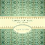 Vintage frame on seamless lace pattern on gradient background stylized like textile. Could be used as repeating wallpaper, textile, wrapping paper, background Stock Photo - Royalty-Free, Artist: antuanetto                    , Code: 400-05669951
